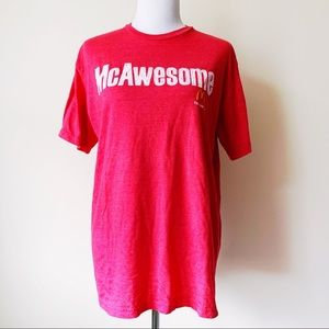 McDonald's McAwesome T-Shirt Red White Savvy Shirt